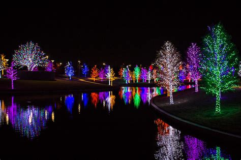 tree lights at vitruvian park in addison
