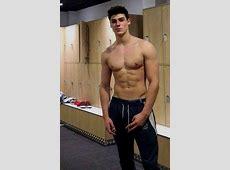 Shirtless Male Muscular Athletic Frat Jock Hunk Locker