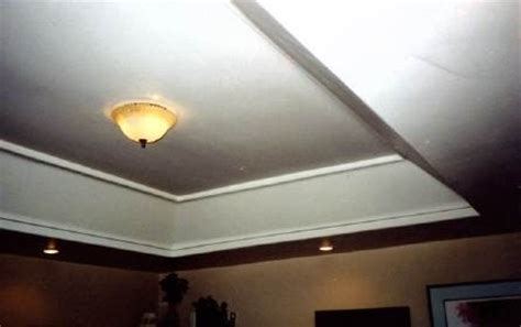 tray ceiling  hiding ductwork pipes  wiring