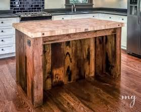kitchen island butcher block furniture made using wooden pallets pallet idea