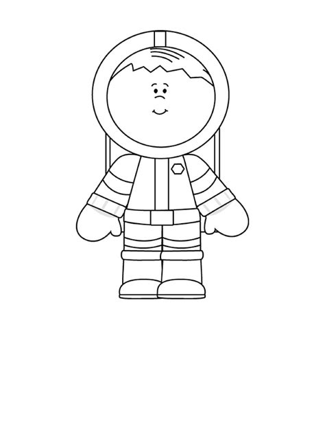 Astronaut Coloring Pages 5 Preschool And Homeschool
