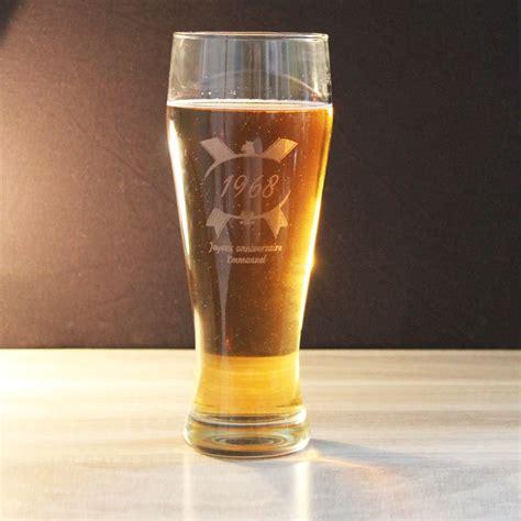 verre a bierre verre 224 bi 232 re anniversaire personnalis 233 amikado