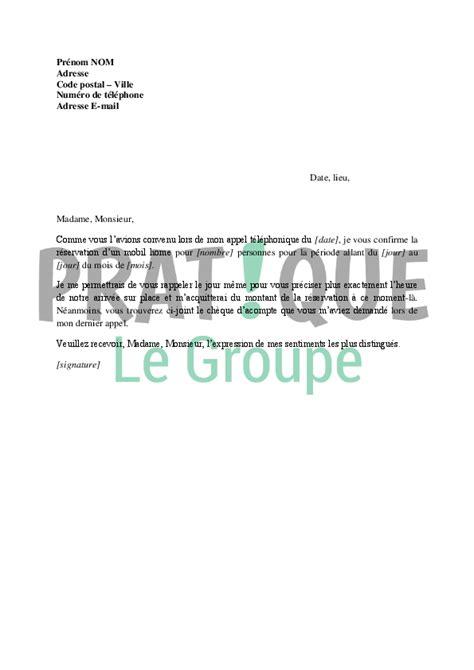 agrandir sa cuisine lettre confirmation de réservation d 39 une location de mobil home pratique fr