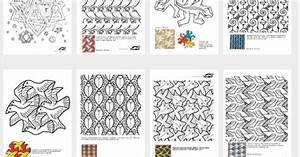 Escher Kleurplaten - School - Kunst