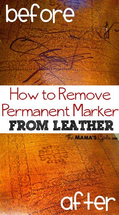 remove permanent marker  leather furniture
