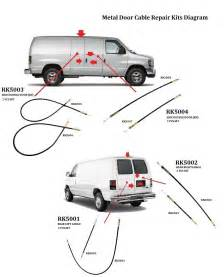 Metal Cable For Ford Van E150 E250 E350 Side Cargo Double