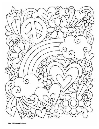 Peace Jess Volinski Rainbow