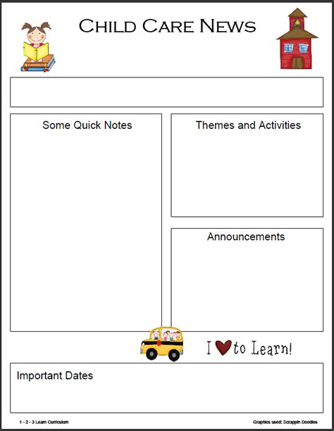 preschool monthly newsletter template daycare ideas 797 | 197fd948378782baf4a291ef11d1c0b0