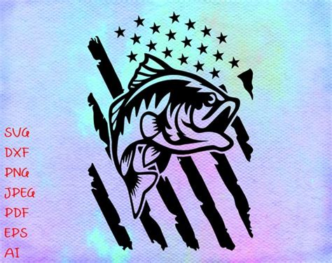Free craft svg files for personal use. Fishing Distressed USA Flag SVG Fishing svg America ...