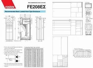 Fostex Fe208e Back Loaded Horn Type Speaker Box Enclosure Design Diy How To Building Subwoofer