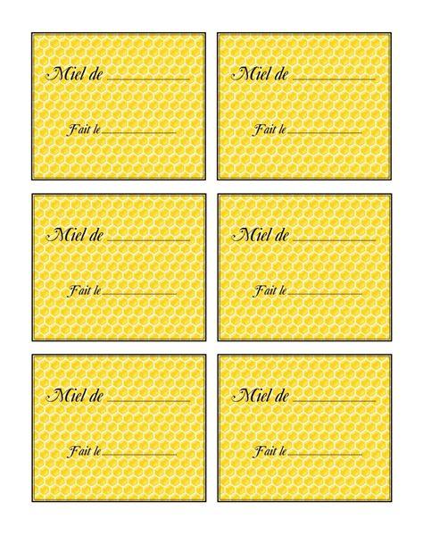 etiquette pour pot de miel jolies 233 tiquettes pour pots de miel 224 imprimer et remplir