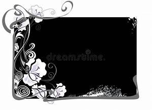 Cadre Noir Et Blanc : cadre noir et blanc avec des fleurs illustration de vecteur illustration du cadre d filement ~ Teatrodelosmanantiales.com Idées de Décoration