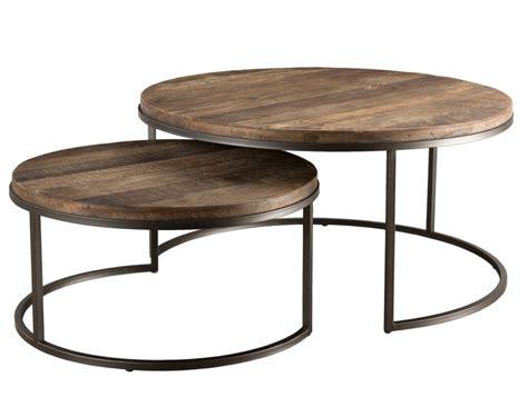 table basse gigogne bois massif acacia et m 233 tal ranka lot de 2 lestendances fr