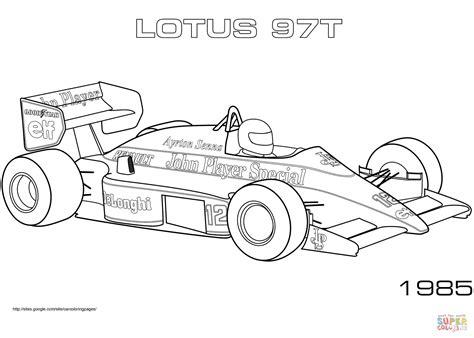 Kleurplaat Formule 1 Bull 2016 by 1985 Lotus 97t Kleurplaat Gratis Kleurplaten Printen