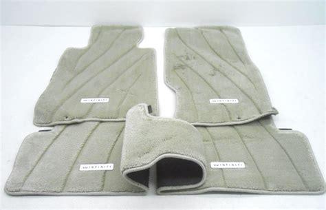 new oem infiniti g37 g25 sedan gray 4 piece floor mat set