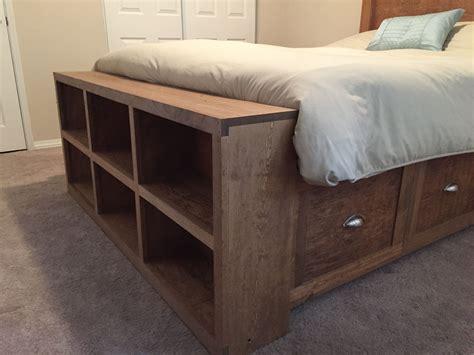 footboard storage bed frame  storage bookshelves