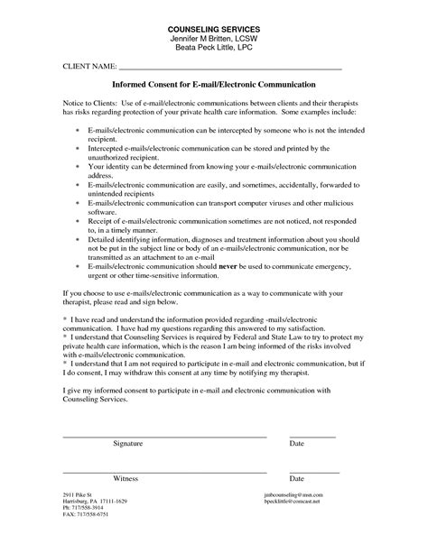 printable counseling consent forms