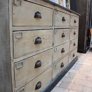 Meuble à Tiroir : ancien meuble en bois tiroirs ~ Edinachiropracticcenter.com Idées de Décoration