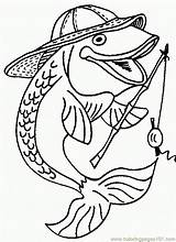 Rod Fish Coloring Reel Coloringpages101 sketch template