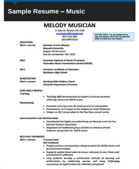 sample  resume  examples  word