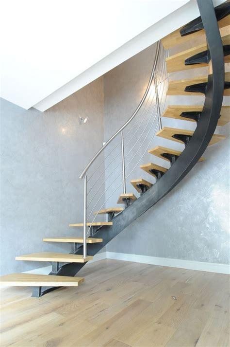 escalier limon central acier 1000 id 233 es sur le th 232 me acier inox sur acier inox et naturelle