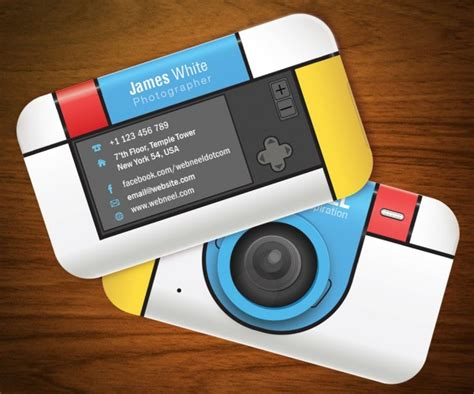 business card design templates  photographers