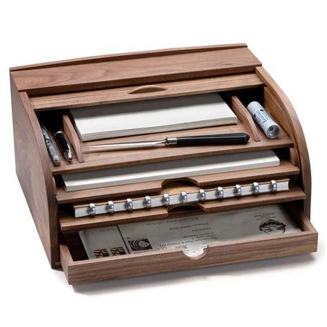 walnut letter box  document desk case organization
