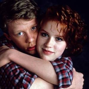 Anthony Michael Hall and Molly Ringwald in 16 Candles