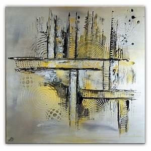 Abstrakte Kunst Kaufen : abstraktes bild gem lde silber gold hochformat acrylbilder ~ Watch28wear.com Haus und Dekorationen