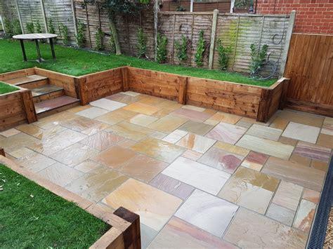 Garden With Patio by Patios In Havering Essex Outdoor Garden Patio Design