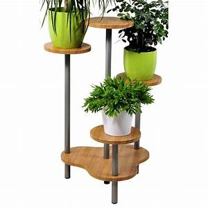 support multiple pour 4 plantes hauteur 75 cm facon With support pour plantes d interieur