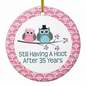 35th anniversary owl wedding anniversaries gift christmas With what to give for 35th wedding anniversary