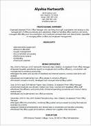 Resume Templates Assistant Front Office Manager Resume CV And Resume Samples With Free Download Office Manager Resume Sample Office Manager Resume Template Responsible For Coordinating All Office Manager Job Description Typically An Office Manager Is The