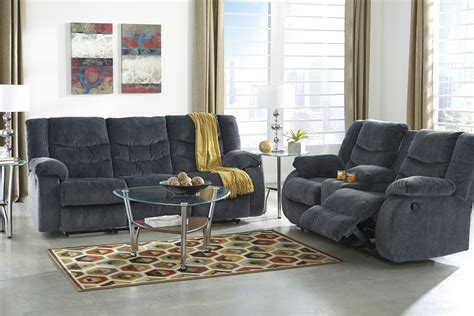 living room set buy furniture garek blue reclining living room set
