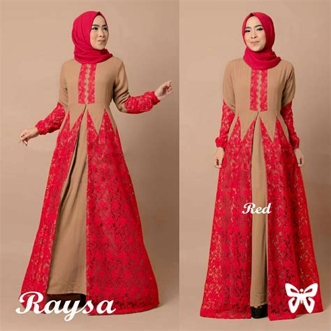 dress brukat model gamis terbaru dress muslim cantik kombinasi brukat