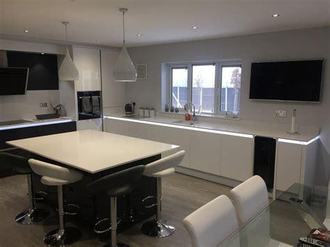 kitchen design showrooms tomba white gloss and graphite kitchen aston 1351