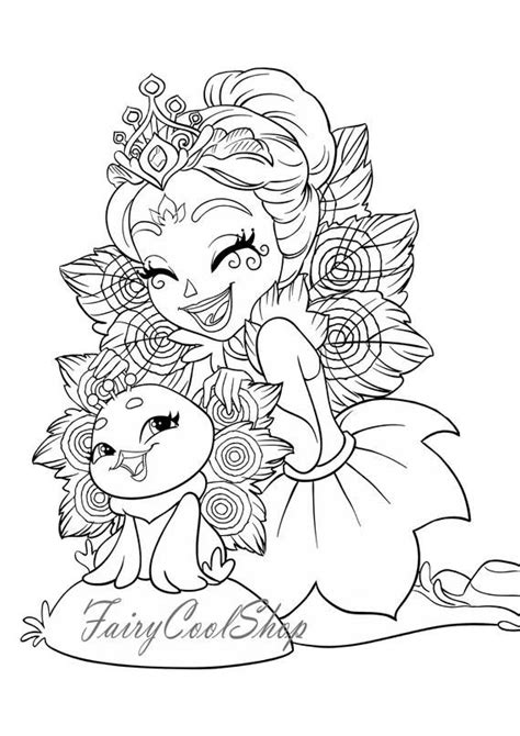 digital coloring images  pages  enchantimals printable