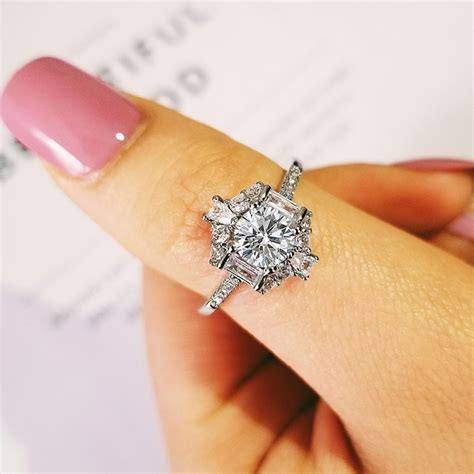 925 sterling silver best selling luxury engagement ring for wedding party anniversary gift