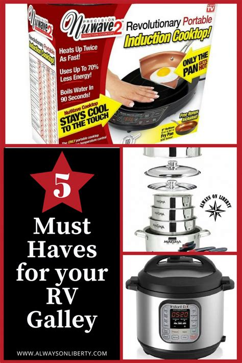 rv galley cookware induction camping alwaysonliberty