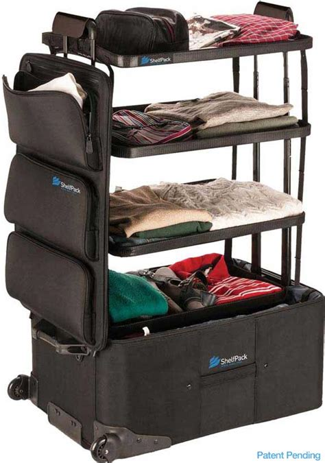 shelfpack the suitcase with shelves luggage with built in shelves