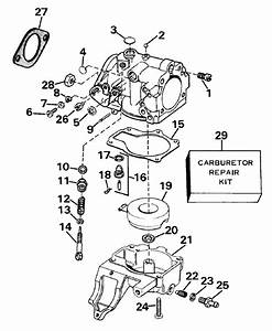 Johnson Carburetor Parts For 1989 30hp J30rced Outboard Motor