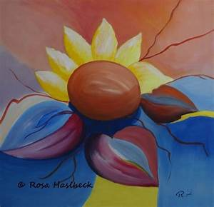 Leinwand Auf Englisch : acrylbild sonnenblume abstrakt englisch rot bl te fr hling von rosa haslbeck bei kunstnet ~ Eleganceandgraceweddings.com Haus und Dekorationen