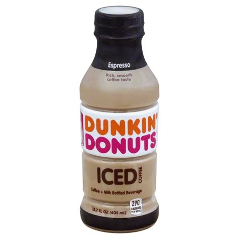For many people that ice coffee that dunkin doughnuts serves comes in a variety of forms. Dunkin' Donuts Espresso Iced Coffee, 13.7 Fl. Oz. - Walmart.com - Walmart.com