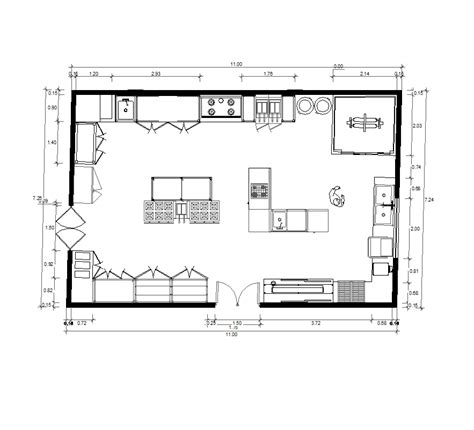 bloc cuisine autocad prepossessing 80 restaurant kitchen plan dwg inspiration