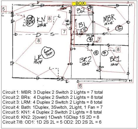 correct wiring diagram for 1 story house electrical