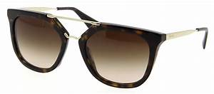 Lunette De Soleil Femme Solde : lunettes de soleil prada pr 13qs 2au6s1 54 20 femme caille brun carr e cercl e tendance ~ Farleysfitness.com Idées de Décoration