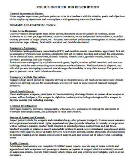 sle officer resume 6 exles in word pdf