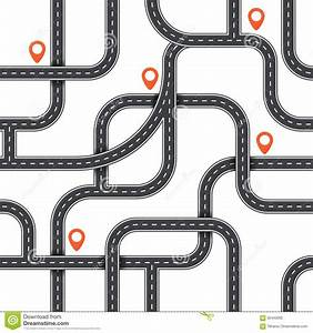 Seamless Vector Road Pattern. Top View Path Background ...