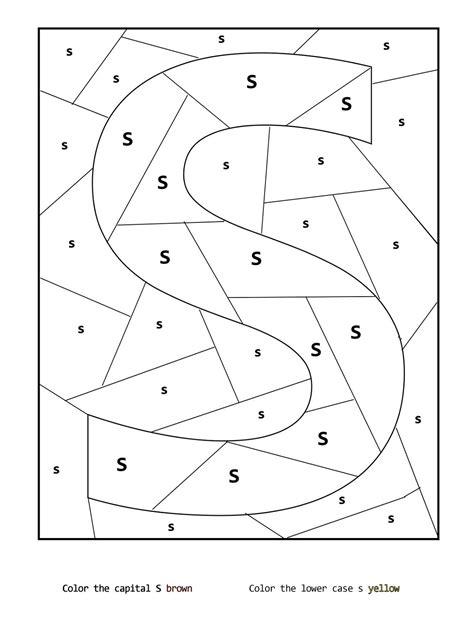 Letter S Worksheets Printable  Printable Shelter