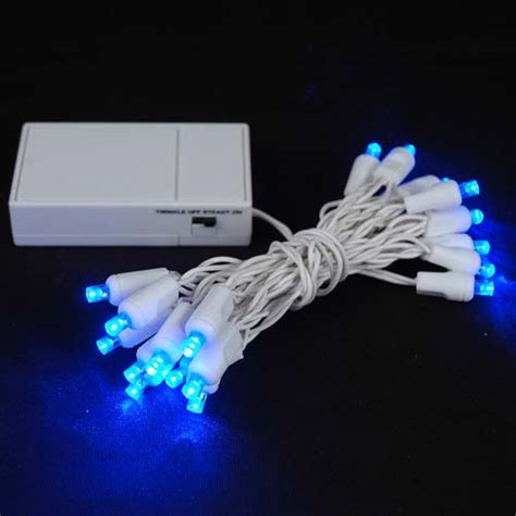 battery operated led light bulb 20 led battery operated lights blue on white wire